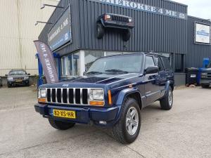 Jeep cherokee 2001 blauw / creme (Verkocht)