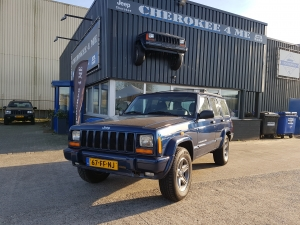 Jeep cherokee 2000 blauw  (Verkocht)